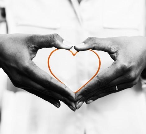Orange Heart_Hands