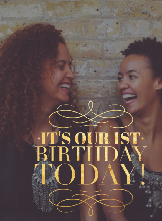 It's Our 1st Birthday Today!!!!
